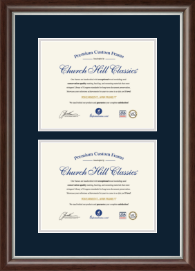 Double Certificate Frames