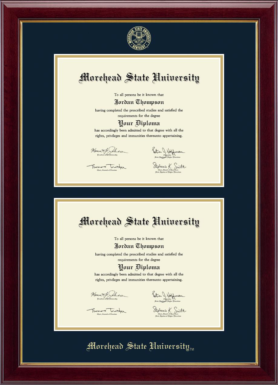 Morehead State University Double Diploma Frame In Gallery Item 256308 From Morehead State University