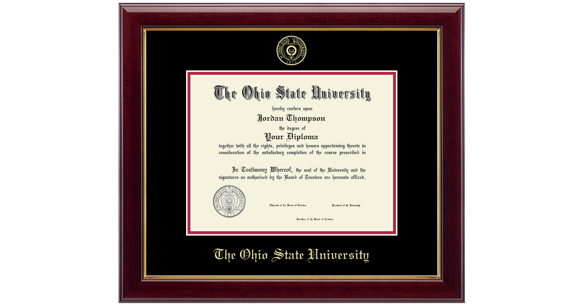 The Ohio State University Gold Embossed Diploma Frame In Gallery Item 116170 From The Ohio State University Alumni Association