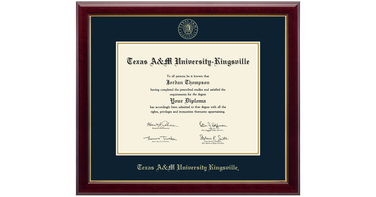 Texas A M University Kingsville Gold Embossed Diploma Frame In Gallery Item 136218