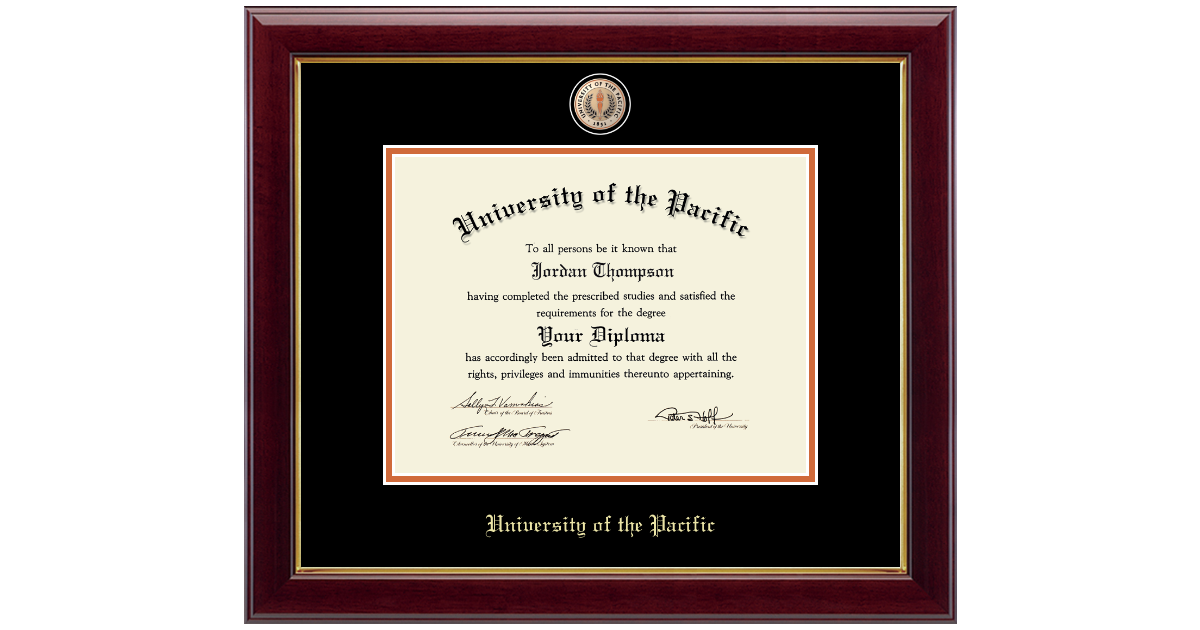 University Of The Pacific Masterpiece Medallion Diploma Frame In Gallery Item 228602 From Pacific Bookstore Stockton Campus