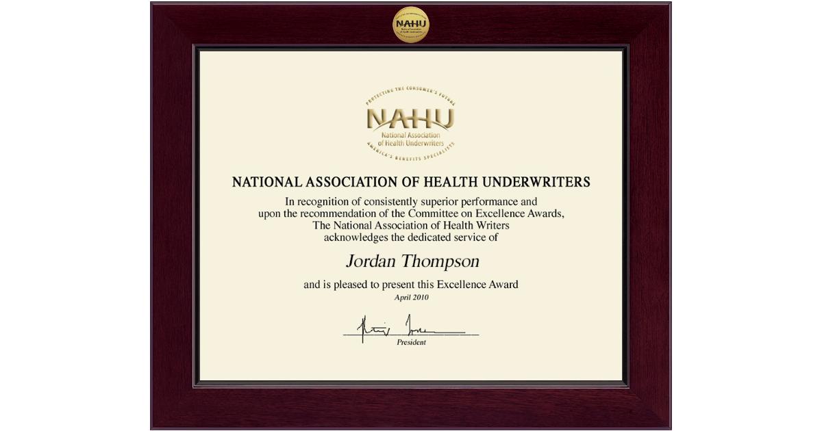 certificate association national underwriters