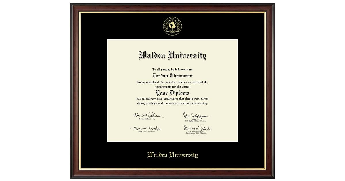 Walden University Diploma Frame