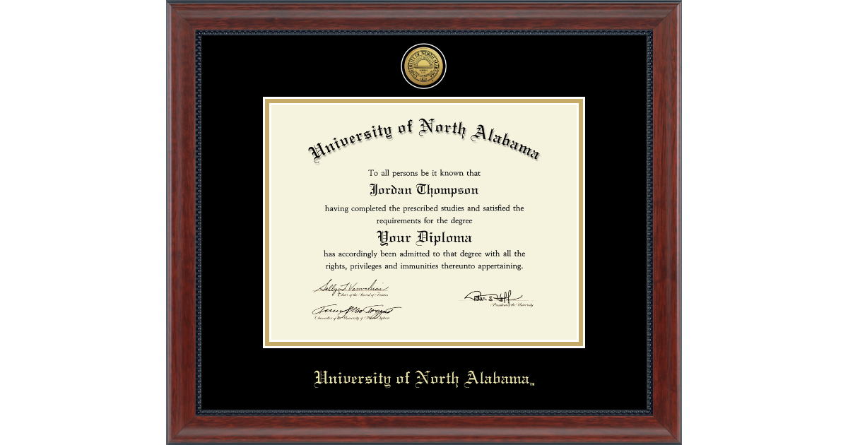 Cherry Name /& Tassel Graduation Diploma Frame 20 x 20 Signature Announcements University-of-Alabama-at-Birmingham Doctorate Sculpted Foil Seal