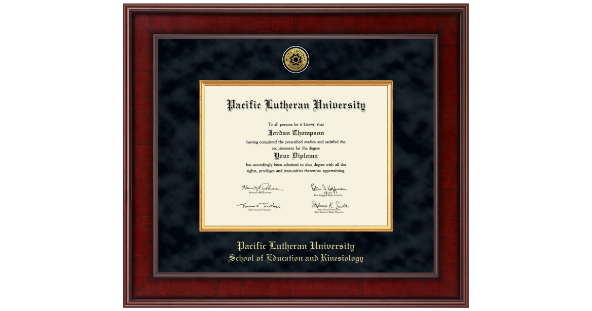 Pacific Lutheran University Presidential Gold Engraved
