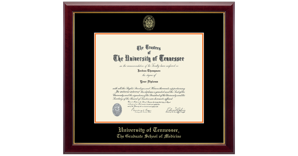 The University Of Tennessee Knoxville Gold Embossed