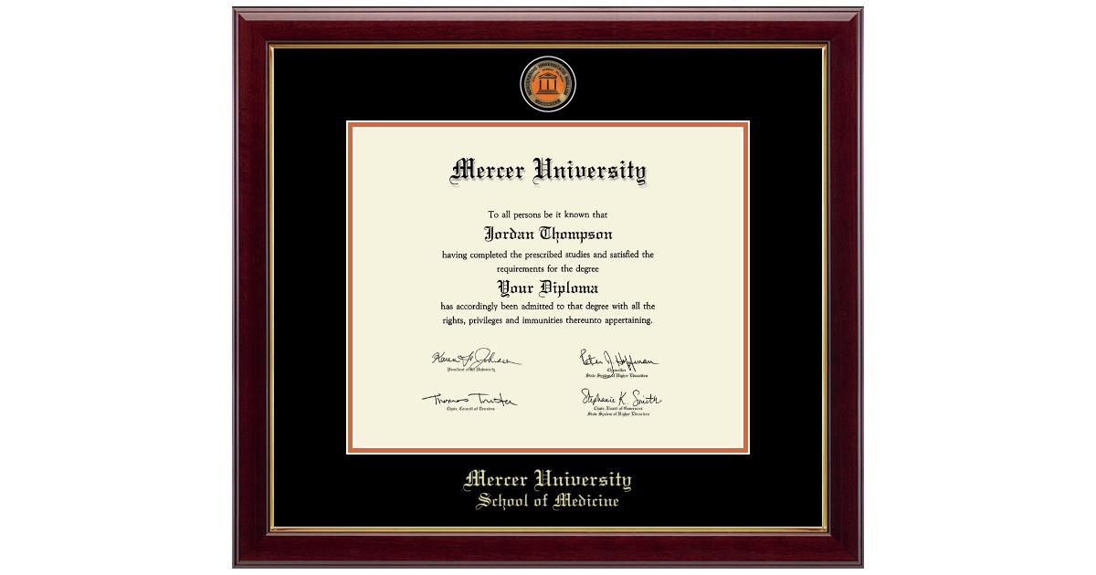 Mercer University Masterpiece Medallion Diploma Frame In Gallery Item 295053 Mrm From Mercer University Bookstore Macon Campus